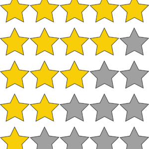 graphic of 5-star rating system