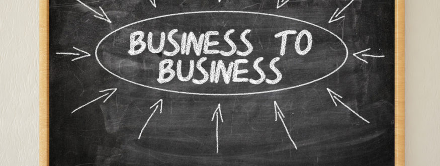 Business to Business in chalk