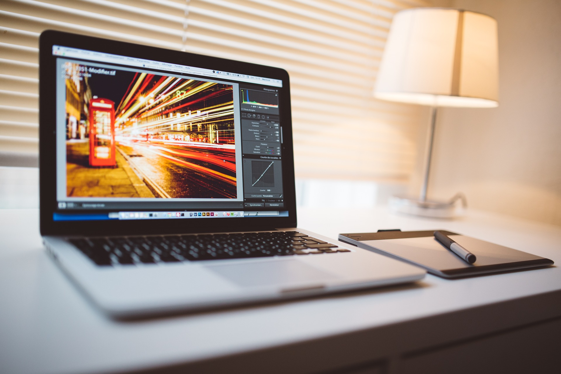 Photoshop open on a MacBook