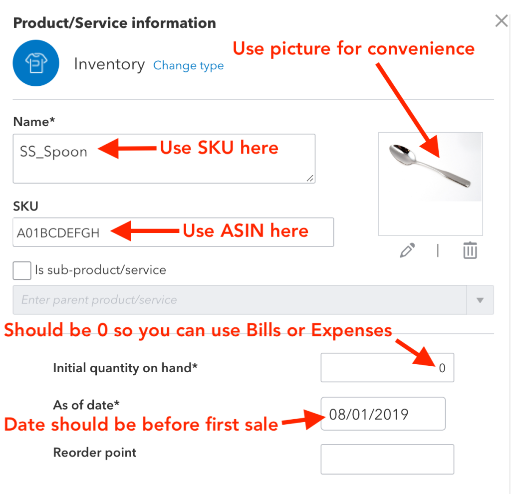 Set up inventory in QuickBooks Online for Amazon Sales